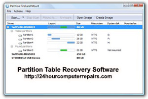 Software to recover damaged partition tables