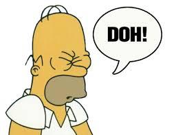 "Homer Simpson ""Doh!"""